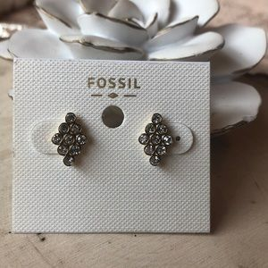 """NWT FOSSIL GOLD STUD """"recolors"""" EARRINGS!!"""